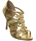Gold Strappy Heel Shoe