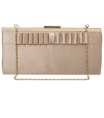 Gold Satin Ruffle Bag