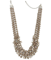 Brown Pearl Collar Necklace