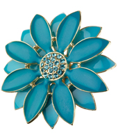 Mikey Turquoise Gold Daisy Ring