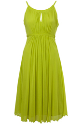 Lime Mary Jane Mesh Dress